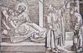 Uroskopie (3) Szene am Krankenbett